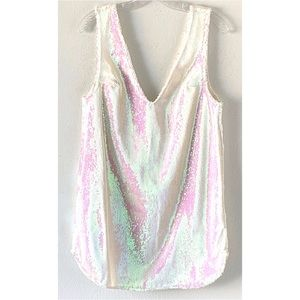 Free People Dresses - INTIMATELY FREE PEOPLE WHITE SEQUIN SLIP DRESS S
